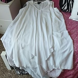 Elegant Swing White Dress For Special Occassions